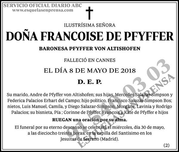 Francoise de Pfyffer